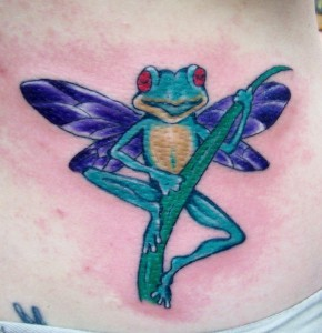 Frog by Caz @Cooloola Tattoo